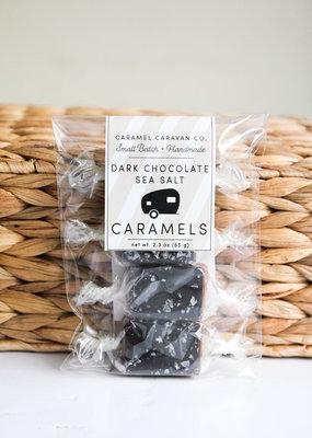 Dark Chocolate Sea Salt Caramels - 4 Piece Bag