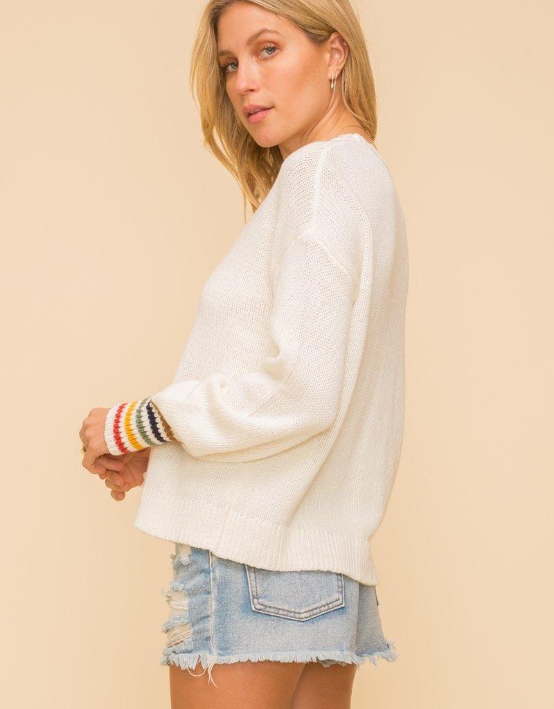 Rainbow Cuff Sweater