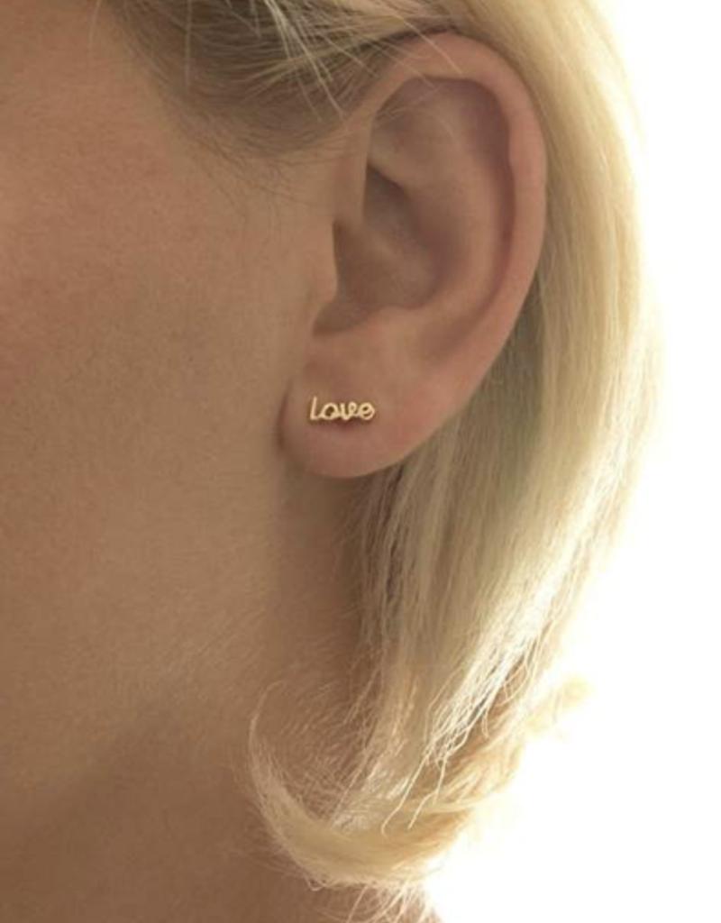 Kris Nations Love Earrings Gold