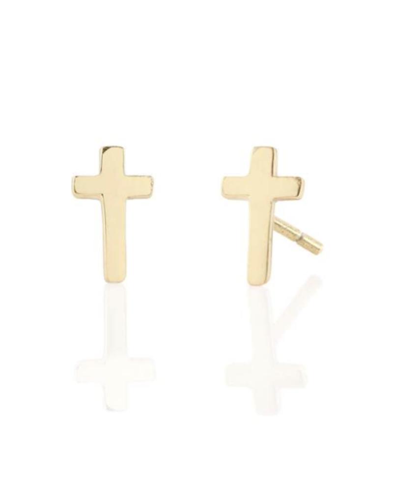 Kris Nations Cross Earrings Gold