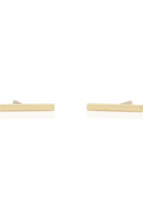 Kris Nations Bar Dash Stud Earrings Gold