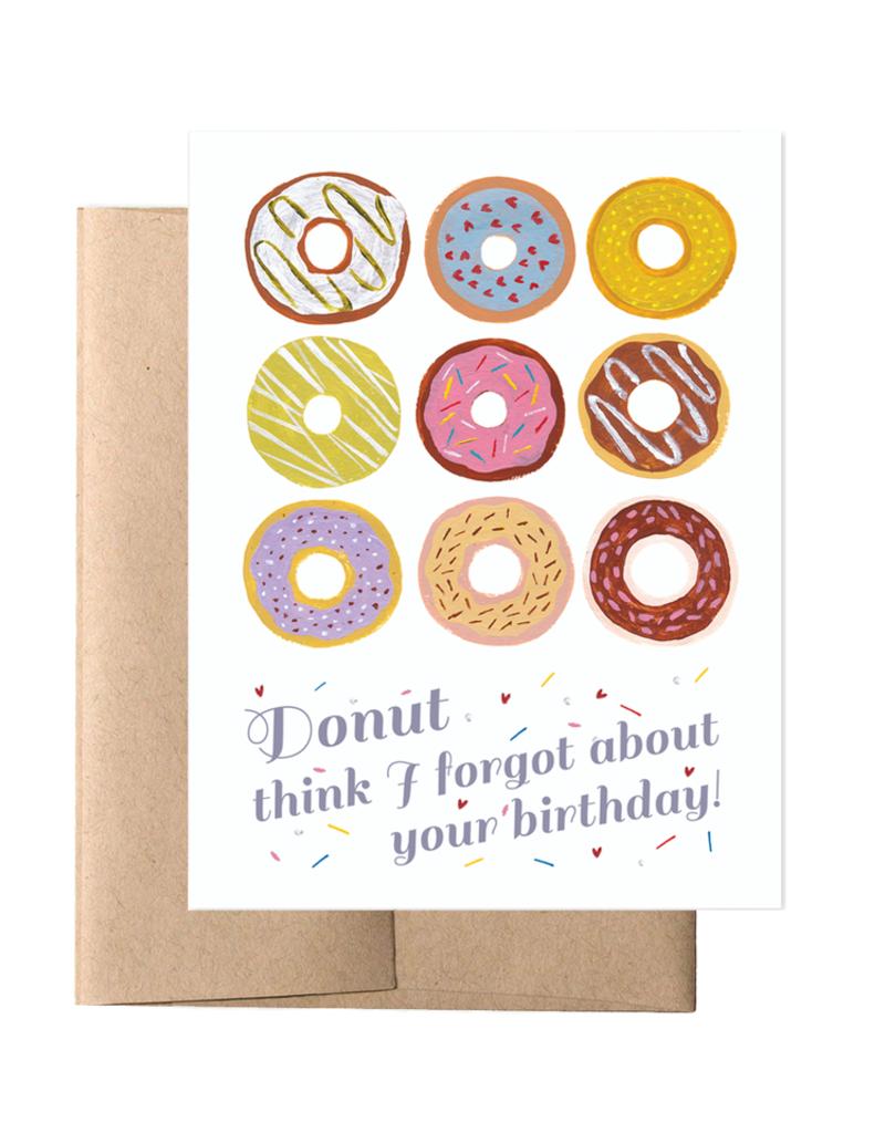 Donut Birthday Card