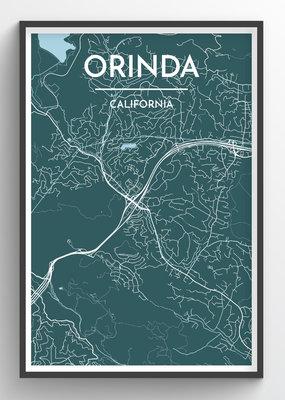 Venture Orinda Map Print