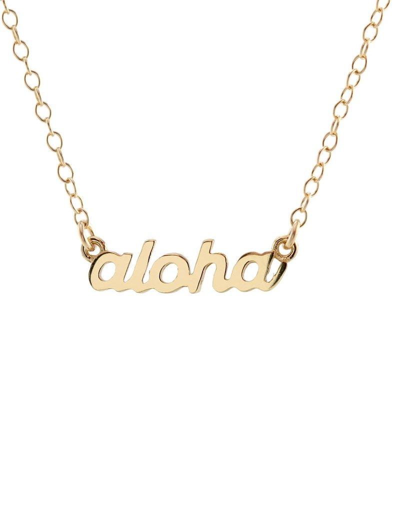 Kris Nations Aloha script necklace