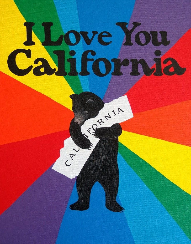 3 Fish Studios I love You Rainbow Print