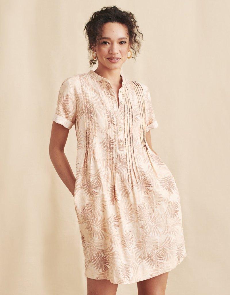 Faherty Gemina Dress Peach Palms