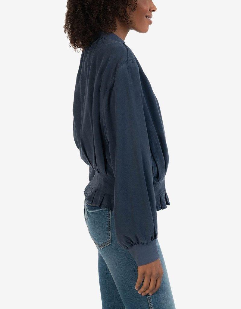 Kut Alina Pleated Bomber Jacket