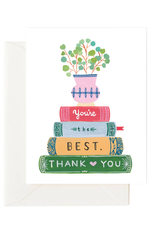 Stack of Books Card