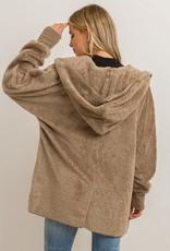 Sherpa Hoody Wrap- Ash
