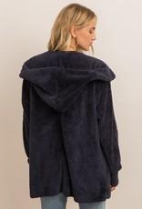 Sherpa Hoody Wrap- Navy