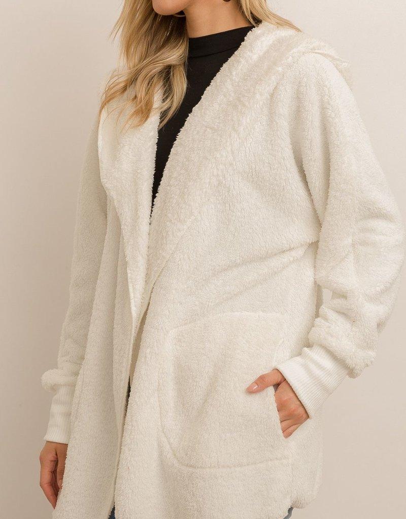 Sherpa Hoody Wrap- White