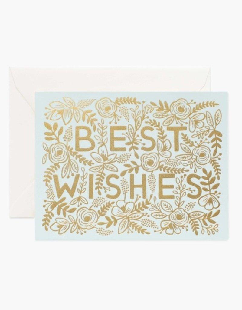 Golden Best Wishes Card