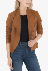 Kut Carina Faux Suede Drape Jacket