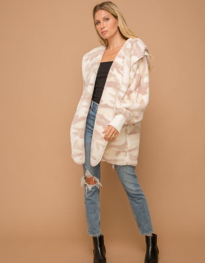 Sherpa Hoody Wrap-Pink Camo