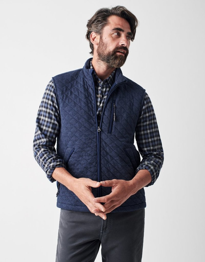Faherty Epic Quilted Fleece Vest