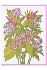 Lucky Horse Press Tropical Flowers Birthday