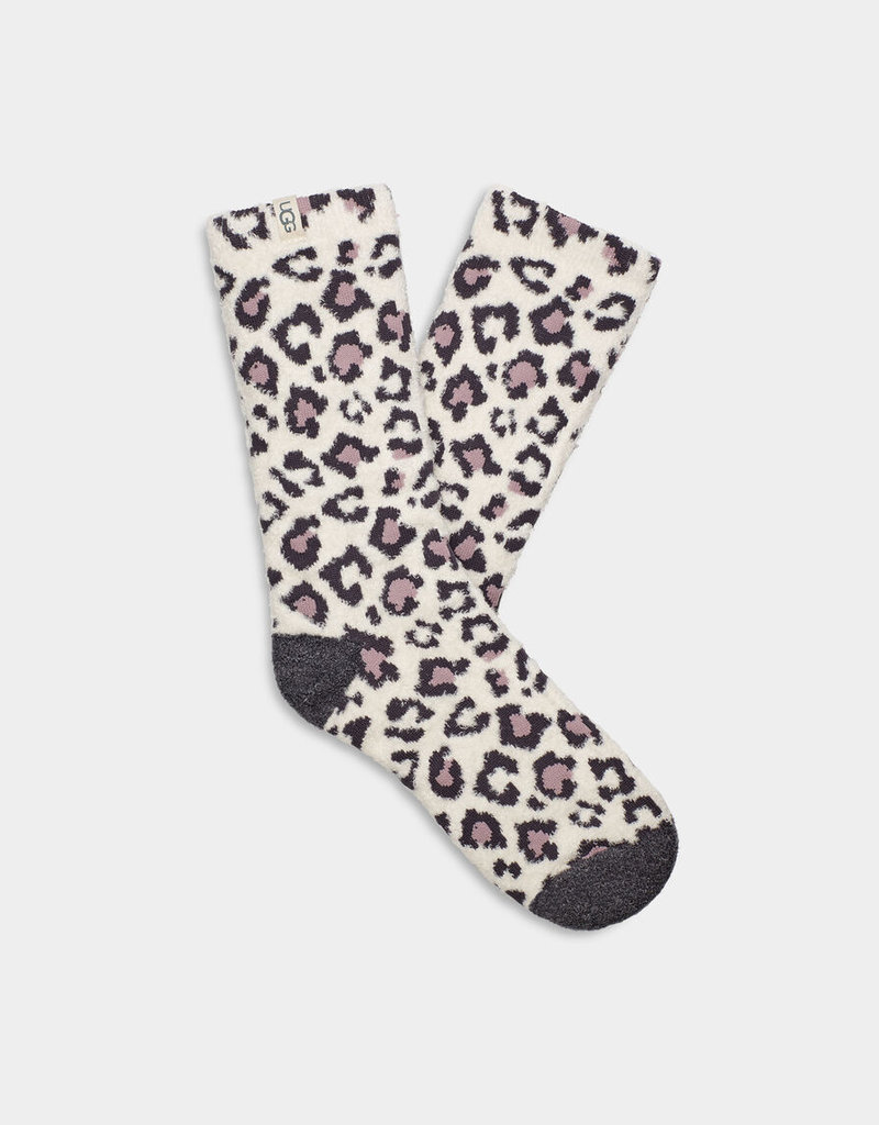 Ugg Leslie Graphic Crew Sock Leopard