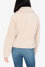 Kut Maika Zip Front Fuzzy Jacket