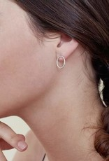Colleen Mauer Small Yellow Gold Oval Studs