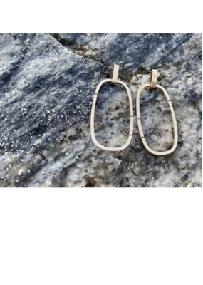 """Colleen Mauer Yellow Gold """"Hybrid"""" Post Earrings"""