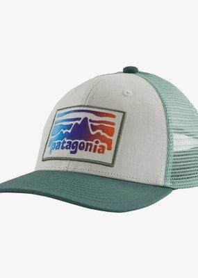 Patagonia Kids' Trucker Hat- Fritz Roy Rambler White