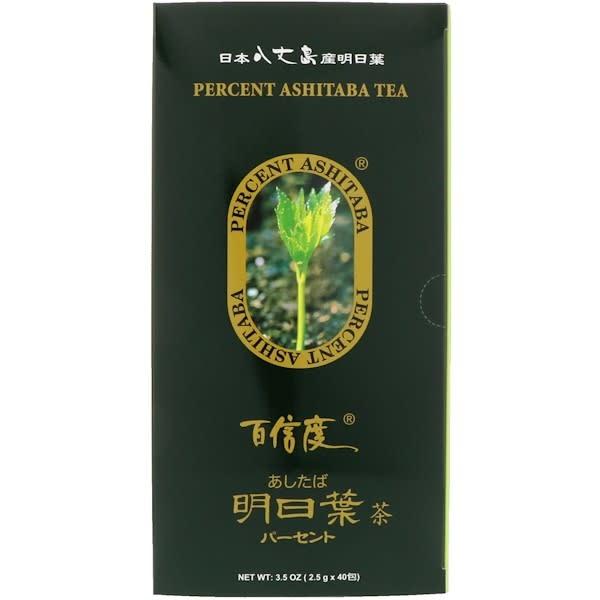 ASHITABA ASH PERCENT ASHITABA TEA BAGS 2.5GX40EA (NEW) - Trà Tăng Năng Lượng ASHITABA NHẬT BẢN (Hộp Lớn 2.5gm x 40 Gói)