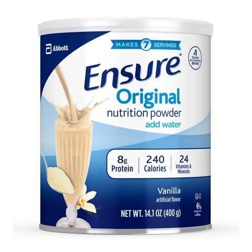 ENSURE ENSURE ORIGINAL POWDER-VANILLA 14.1OZ (400GM) - Sữa Bột Dinh Dưỡng - Mùi Vani (1 Hộp 14.1oz)