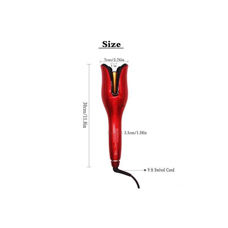 "Tulip Curler TULIPS CERAMIC ROTATING CURLER 1"" - RED - Orig. Price $99.95 - Máy Cuộn Tóc TULIPS - Màu Đỏ"