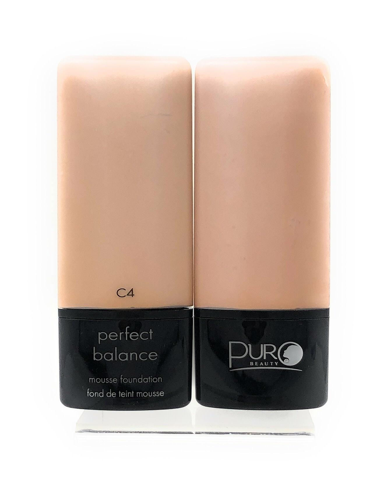PURO PURO MOUSSE FOUNDATION PERFECT BALANCE C4 - KEM NỀN DẠNG MOUSSE PURO (MÀU VÀNG NHẸ) #C4  - CÂN BẰNG LÀN DA TUYỆT VỜI