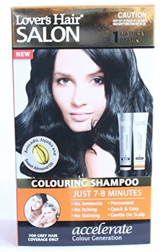 Lover's Care LOV HAIR SALON COLORING SHAMPOO 2.0 OZ - #1 (NATURAL BLACK) - DẦU GỘI NHUỘM TÓC LOVER'S HAIR 2OZ - MÀU ĐEN TỰ NHIÊN #1