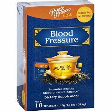 PRINCE OF PEACE PP BLOOD PRESSURE TEA BAG 1.8GM X 18EA - TRÀ ỔN  HUYẾT ÁP -  18 GÓI