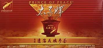 PRINCE OF PEACE PP AMERICAN GINSENG TEA 3GX10X10 (100 BAGS) - TRÀ NHÂN SÂM MỸ - 100 GÓI
