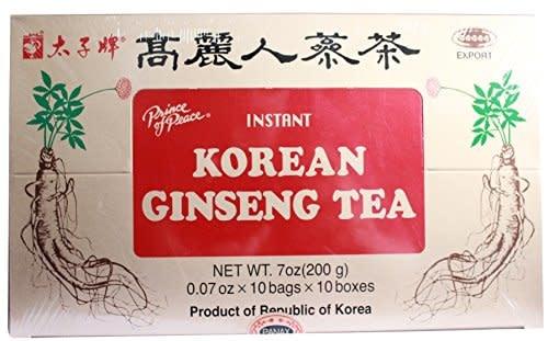 PRINCE OF PEACE PP KOREAN GINSENG TEA 2GX10X10 - 100 TÚI TRÀ - TRÀ NHÂN SÂM HÀN QUỐC - 100 GÓI