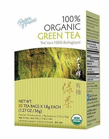 PP ORGANIC GREEN TEA BAG 1.8G X 20EA - TRÀ XANH HỮU CƠ THIÊN NHIÊN - 20 GÓI