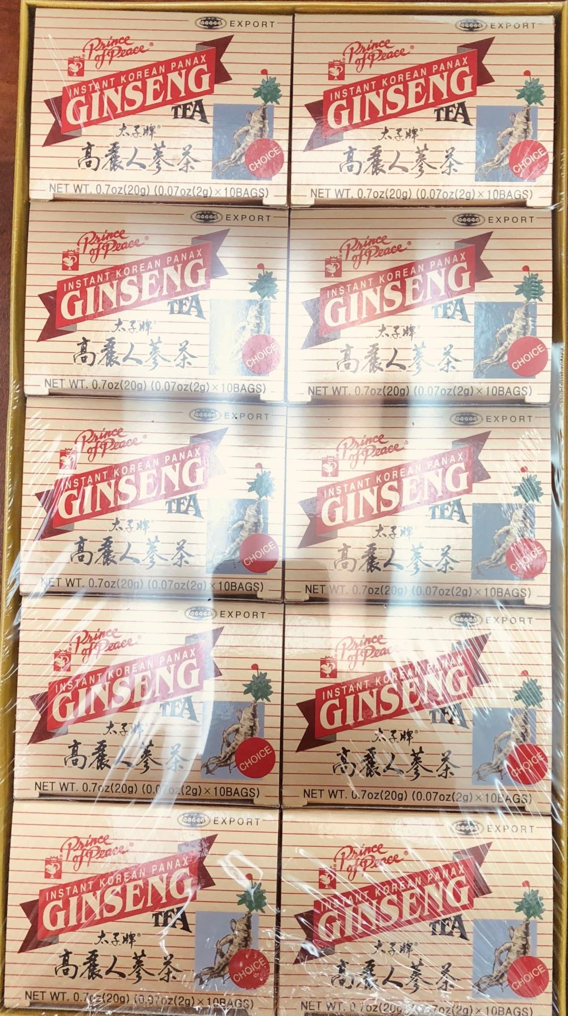 PP INSTANT KOREAN PANAX GINSENG TEA #100 BAGS (2GX10X10) - TRÀ NHÂN SÂM HÒA TAN HÀN QUỐC - 100 GÓI