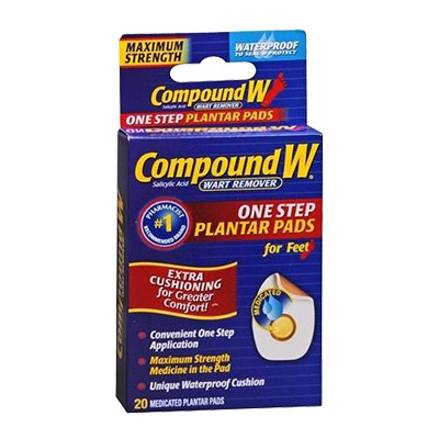 COMPOUND-W COMPOUND-W PLANTER WART PAD 20CT - MIẾNG DÁN TRỊ MỤN CÓC - 20 MIẾNG
