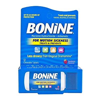 BONINE BONINE MOTION SICKNESS TRAVEL PK 12CT - THUỐC CHỐNG SAY SÓNG/ MÁY BAY KHI ĐI DU LỊCH -12 VIÊN