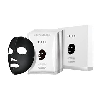 OHUI OH EX BRIGHTENING EXTREME 3D BLACK MASK 6PC - MẶT NẠ DƯỠNG TRẮNG VÀ SĂN CHẮC DA OHUI 3D BLACK MASK - 6 MIẾNG