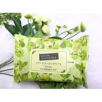 LG GIFT THE FACE SHOP - HERB DAY CLEANSING TISSUE - TFI30400134