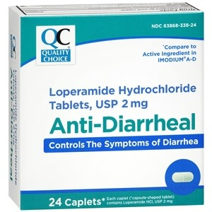 Quality Choice QC ANTI-DIARRHEAL LOPERAMIDE 2MG 24 CAPLETS