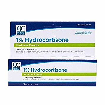 QC QC HYDROCORTISONE CREAM 1% 1 OZ