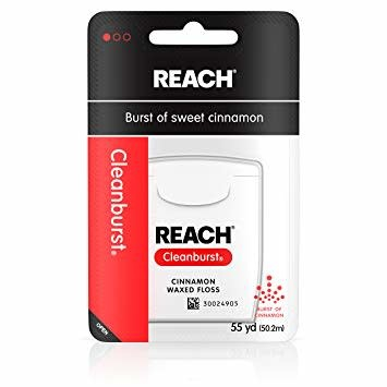REACH REACH CLEAN CLEARBURST WAXED FLOSS CINNAMON 55 YD