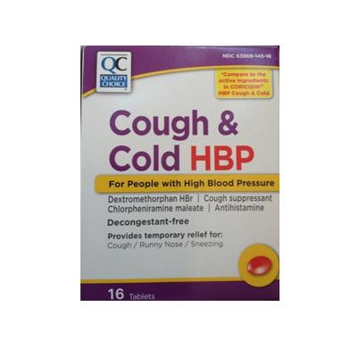 MEDCARE QC COUGH & COLD HBP 16 TABLETS