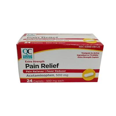 QC QC PAIN RELIEF X-STR CAPLET 24CT
