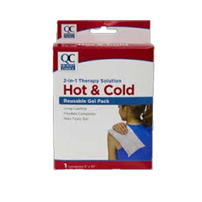 QC QC HOT & COLD REUSABLE GEL COMPRESS PACK 1CT