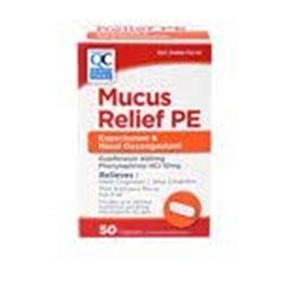 QC QC MUCUS RELIEF PE TABLET 50CT