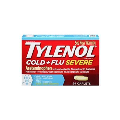 TYLENOL TYLENOL COLD & FLU SEVERE CAPLET 24CT