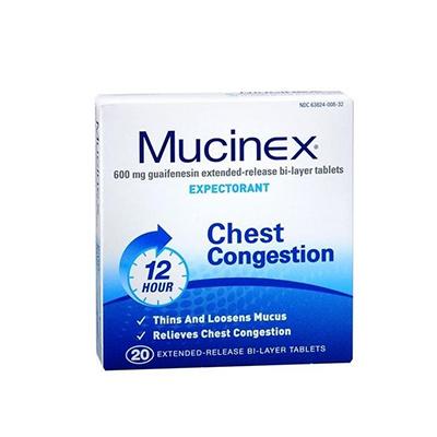 MUCINEX MUCINEX TAB 600MG 20CT