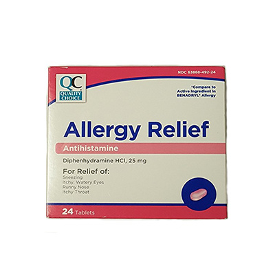 Quality Choice QC ALLERGY RELIEF TABLET (BENADRYL) - 24CT