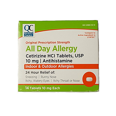 QC QC CETIRIZINE ALLERGY TABLET 10MG 14CT